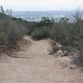To Barker Way Trailhead.- Cowles Mountain, Golfcrest Drive Trailhead