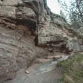 Rock formations along the trail.- Steelhead Falls