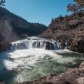 The view of 20-foot Steelhead Falls.- Steelhead Falls