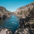 The river quiets down after the falls.- Steelhead Falls
