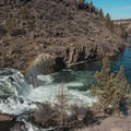 If it's sunny, you just might catch a rainbow in the waterfall spray.- Steelhead Falls