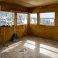 Interior of the lookout.- Martis Lookout + Martis Peak