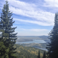 Viewpoint of town.- Bertha Lake