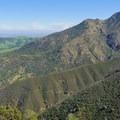 The fireroad on the ridge.- Eagle Peak Loop