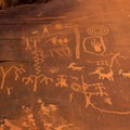 These petroglyps are estimated to be about 3,000 years old!- Atlatl  Rock Campground