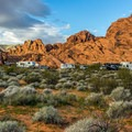 Set in the shadow of the rocks, the campground feels isolated and quiet.- Atlatl  Rock Campground