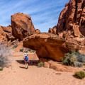 The rock formations are constant points of interest.- Natural Arches Trail
