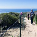 The trail is sandy with a mild slope.- Dana Point Headlands Conservation Area