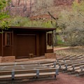 The campground amphitheater.- Watchman Campground