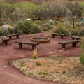 The walk-in camping area has two common area gathering spots.- Watchman Campground