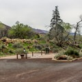 The dump station is near the entrance to the campground.- Watchman Campground