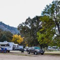 RV camping at Pinnacles National Park Campground.- Pinnacles National Park Campground