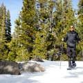 Snowshoeing to Woods Lake.- Woods Lake