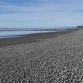 Most of the beach consists of smooth rocks.- Kalaloch Beach 1