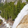 Top of Vernal Falls.- Vernal Falls Hike via Mist Trail