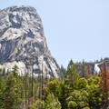 Liberty Cap and Nevada Falls in spring.- Vernal Falls Hike via Mist Trail