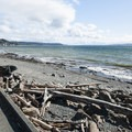Beach on the south side of Alki Point.- Alki Point Lighthouse