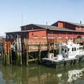 View of a Columbia River Bar pilot boat.- Astoria Riverwalk Trail