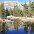 The campground lies across Highway 120 from Lembert Dome.- Tuolumne Meadows Campground
