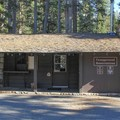 Campground reservation building located near the entrance.- Tuolumne Meadows Campground