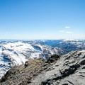 Round Top Peak (10,381').- Winnemucca Lake, Round Top Lake + Round Top Peak