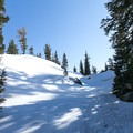 The first portion of the trail consists of climbing through the backcountry toward Frog Lake. Some navigation may be required.- Winnemucca Lake, Round Top Lake + Round Top Peak