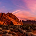 For those fortunate enough to camp in Valley of Fire, the reward might be a sunrise like this one.- Valley of Fire State Park