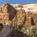 Views of the canyon below get better around every turn.- Hidden Canyon Trail