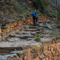 After the junction, the switchbacks get shorter and steeper.- Hidden Canyon Trail