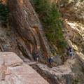 Pretty soon the trail gets more precarious.- Hidden Canyon Trail