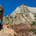People who are uneasy with heights may want to consider another trail.- Hidden Canyon Trail