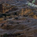 If you look really hard, you can see hikers on the trail along the rock face.- Hidden Canyon Trail
