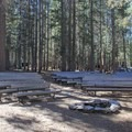 Campground fire center.- White Wolf Campground