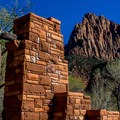 South Campground is one of two main campgrounds in Zion Canyon.- South Campground