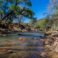 Several tent campsites are situated right on the river.- South Campground