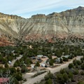 A bird's-eye view of the campground.- Kodachrome Basin State Park Campground