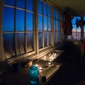 While there is no fireplace in the Hidden Lake Lookout, candles can provide some long-lasting light.- Hidden Lake Lookout