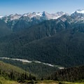 Incredible views of the Bailey Range from the High Divide Trail.- High Divide Loop