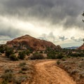 View from the beginning of the trail headed west.- Panorama Trail