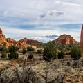The rock formations are spectacular, especially at sunset.- Panorama Trail