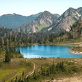 Lunch Lake found in the Seven Lakes Basin.- High Divide Loop