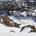 Plenty of steep descent options.- Lassen Peak: Southeast Chutes Backcountry Ski