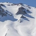 Dirty Martini Chute (left) and the north shoulder bowl (right).- Lassen Peak: Dirty Martini Chute Backcountry Ski