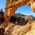 This arch is a great spot to explore.- Arches Trail