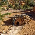 This structure is said to have been used as a cache by the Butch Cassidy gang.- Arches Trail
