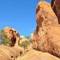 First section of slickrock after Landscape Arch.- Devils Garden + Primitive Trail