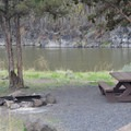 A typical campsite at Chimney Rock Campground.- Chimney Rock Campground