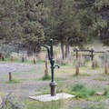 Potable water is available.- Chimney Rock Campground