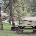Typical campsites at Chimney Rock Campground.- Chimney Rock Campground