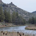 Lower Crooked River and Chimney Rock.- Chimney Rock Campground